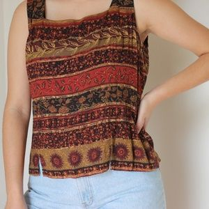 Vintage Patterned Tank Top